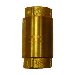 Campbell  3/4  Dia. x 3/4  Dia. Yellow Brass  Spring Loaded  Check Valve