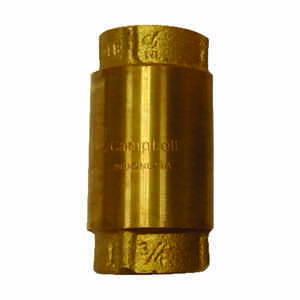 Campbell  3/4 in. 3/4 in.  Yellow Brass  Spring  Check Valve