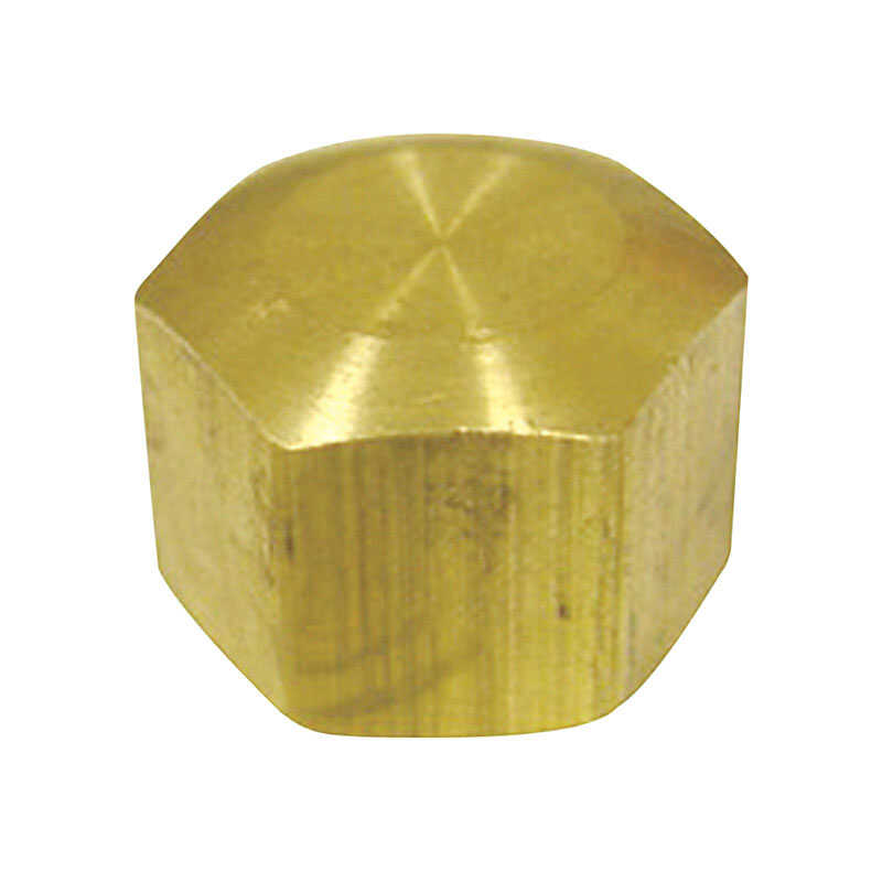 Ace  1/4 in. Dia. x 1/4 in. Dia. Compression To Compression To Compression  Yellow Brass  Cap
