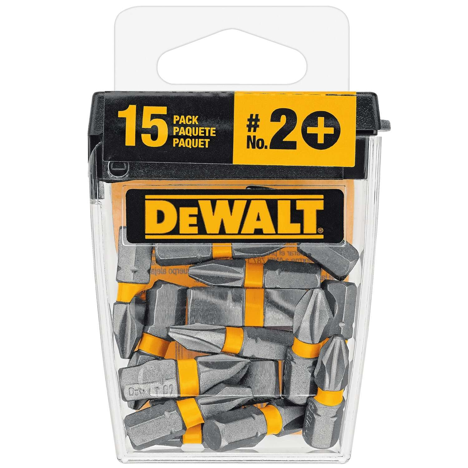 DeWalt  MAXFIT  Phillips  #2   x 1 in. L Insert Bit  S2 Tool Steel  15 pc.