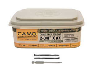 CAMO  No. 7   x 2-3/8 in. L Star  Stainless Steel  Trim  350 EA Deck Screws