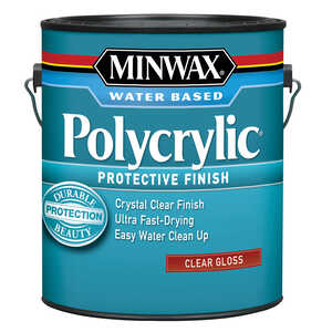 Minwax  Indoor  Clear  Gloss  Polycrylic  1 gal. Gloss