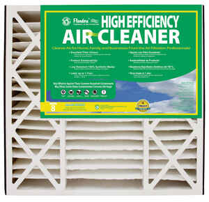 AAF Flanders  20 in. W x 20 in. H x 5 in. D Polyethylene/Polypropylene  8 MERV Pleated Air Filter