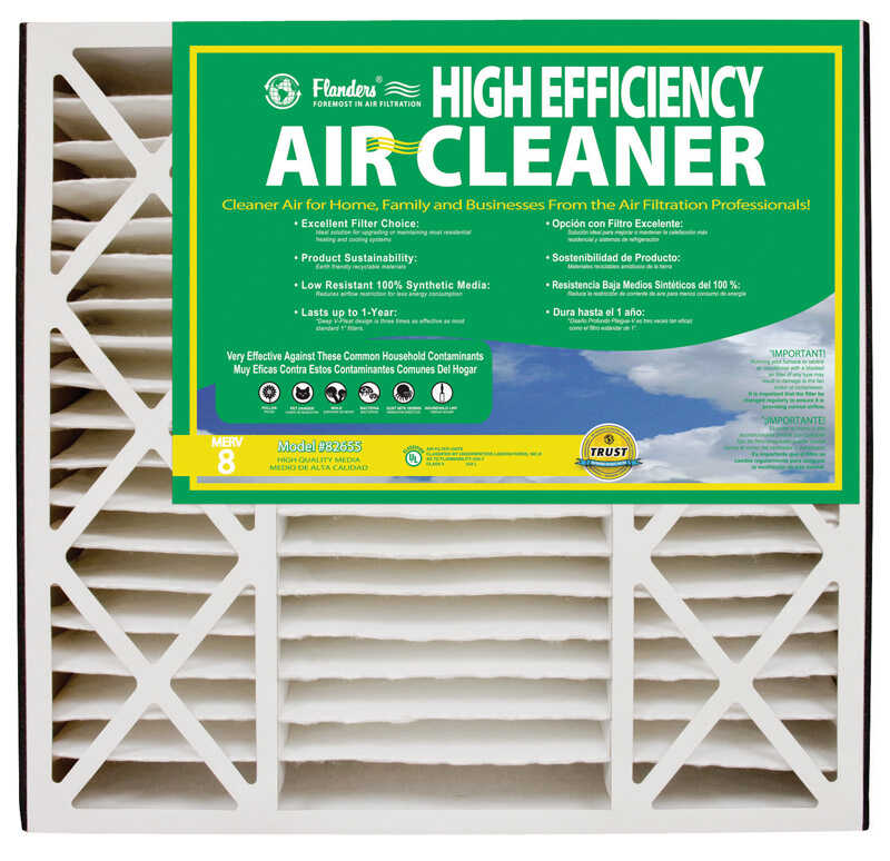 AAF Flanders  20 in. W x 20 in. H x 5 in. D Polyethylene/Polypropylene  Pleated Air Filter