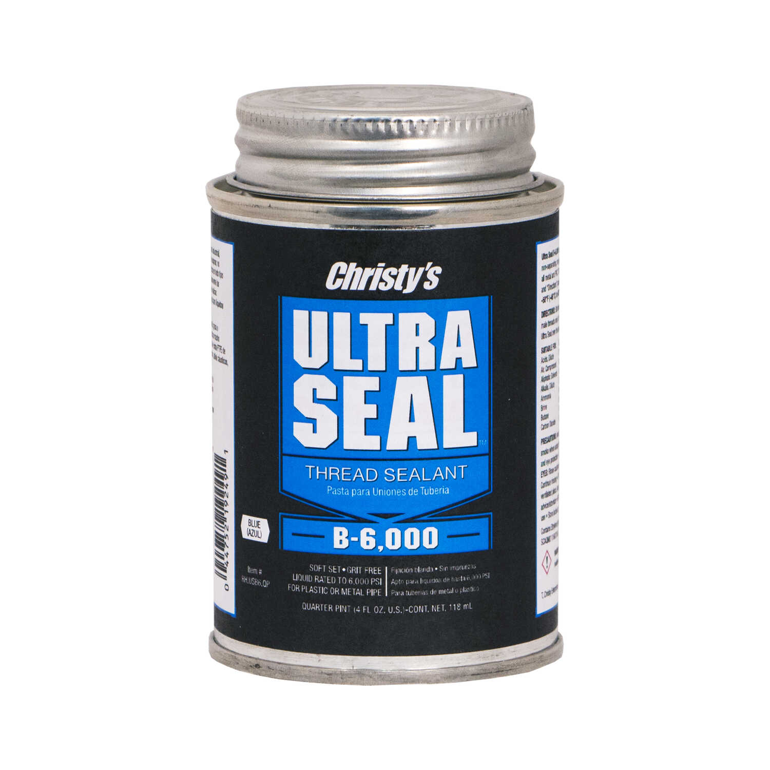 Christys  Ultra Seal  Blue  Blue  Thread Sealant  4 oz. 4 oz. For CPVC/PVC