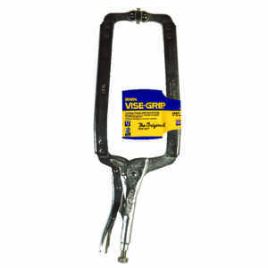 Irwin  Vise-Grip  8 in.  x 9-1/2 in. D Steel  Locking  C-Clamp with Swivel Pads  1000 lb. capacity S