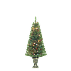 Celebrations 4 ft. Pencil Incandescent 35 lights Northern Pine Entrance Tree