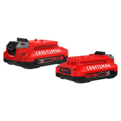 Craftsman  20V MAX  20 volt 2 Ah Lithium-Ion  Battery Pack  2 pc.
