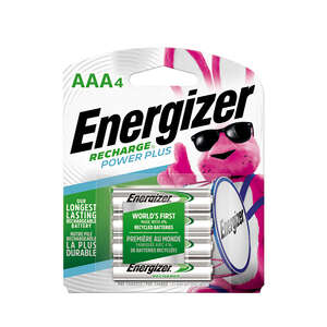 Energizer  NiMH  AAA  NH12BP4  4  Rechargeable Batteries