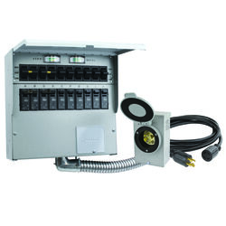 Reliance Controls  30 amps 250 volt 1 space 10 circuits Surface Mount  Generator Power Transfer Kit