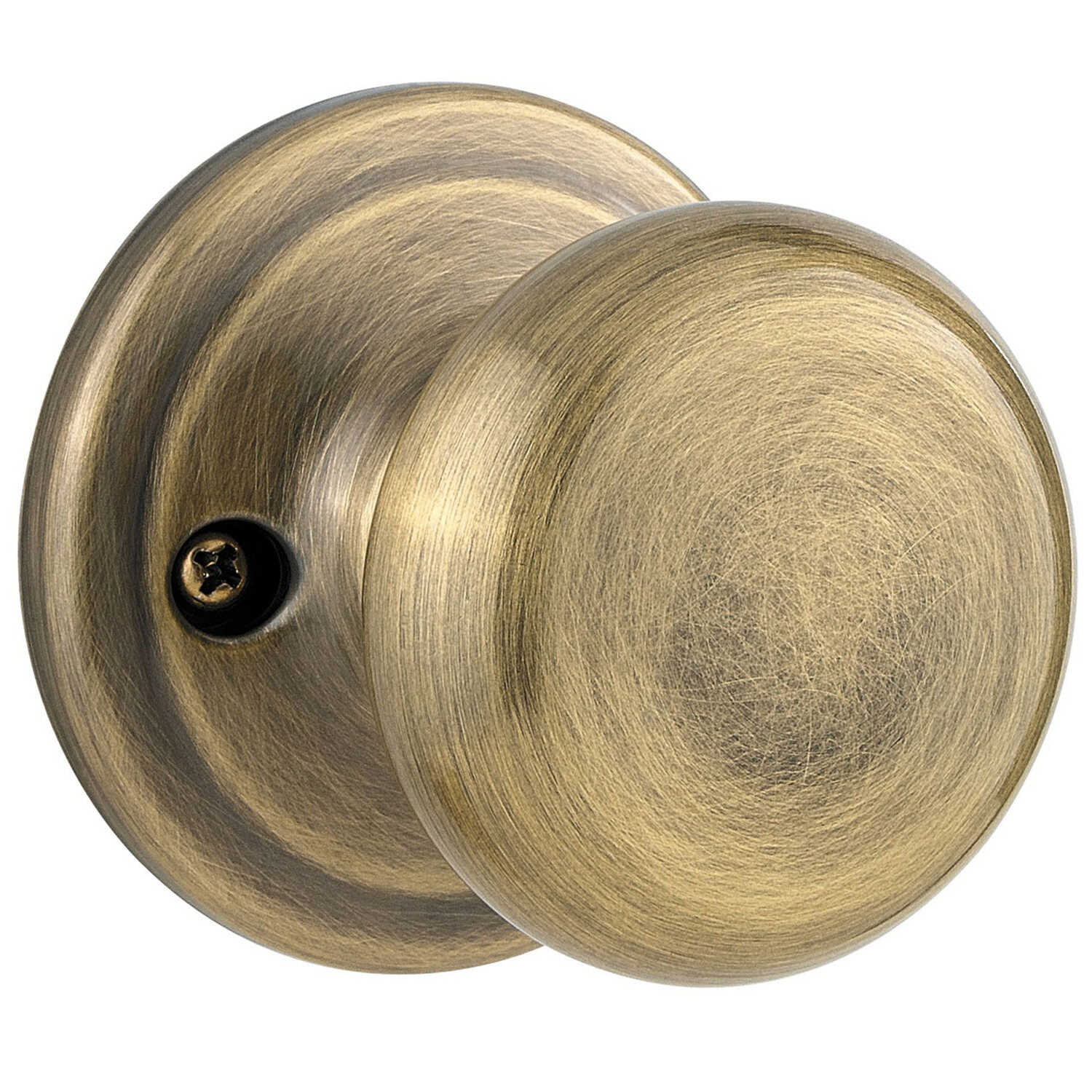 Kwikset  Juno  Antique Brass  Steel  Dummy Knob  2 Grade Right or Left Handed