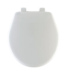 Mayfair Slow Close Round White Plastic Toilet Seat