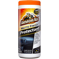Armor All  Matte Finish  Plastic/Vinyl  Protectant  Wipe  25 wipes