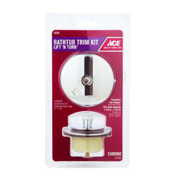 Ace  Classic  1-Handle  Chrome Plated  Lift N Turn Bath Drain Trim Kit