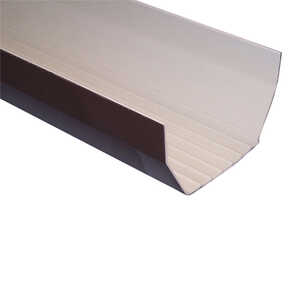 Raingo  2.25 in. W x 4.25 in. H x 10  L Vinyl  C  Gutter  Brown