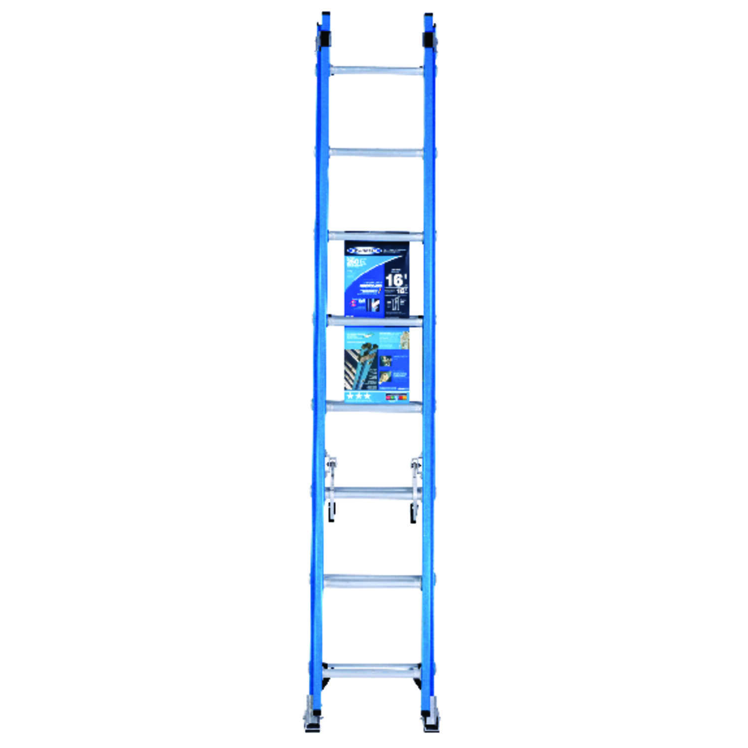 Werner  16 ft. H x 18.13 in. W Fiberglass  Extension Ladder  Type 1  250 lb.