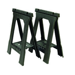 Stanley  32 in. H x 22-1/2 in. W x 5 in. D Folding Sawhorse  800 lb. Black  1 pair