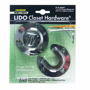 Lido  1-1/4 in. L x 1-3/8 in. Dia. Polished Chrome  Steel  Closet Flange Set
