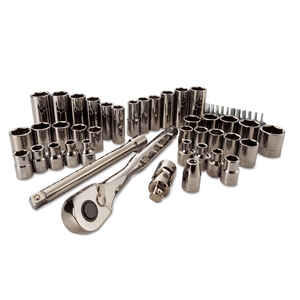 Craftsman  3/8 in.  x 3/8 in. drive  Metric and SAE  6 Point Mechanic's Tool Set  51 pc.