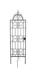 Panacea  84 in. H Black  Steel  Trellis