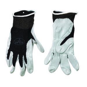 Atlas  Unisex  Indoor/Outdoor  Nitrile  Dipped  Gloves  S  Black/Gray