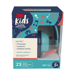 3M 23 dB Kids Ear Muffs Teal 1 pk