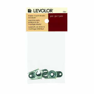 Levolor  White Smoke  Window Shade Bracket  3.3 in. W x 4.4 in. L