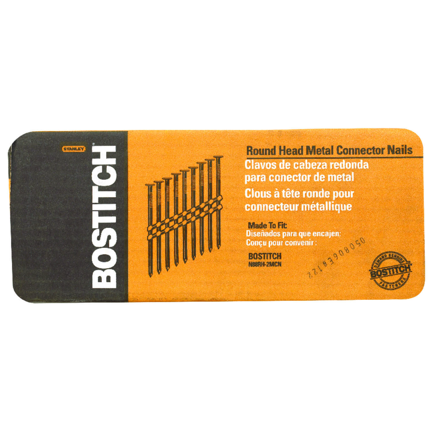 Stanley Bostitch  10 Ga. Smooth Shank  Straight Strip  Metal Connector Nails  1-1/2 in. L x 0.13 in.