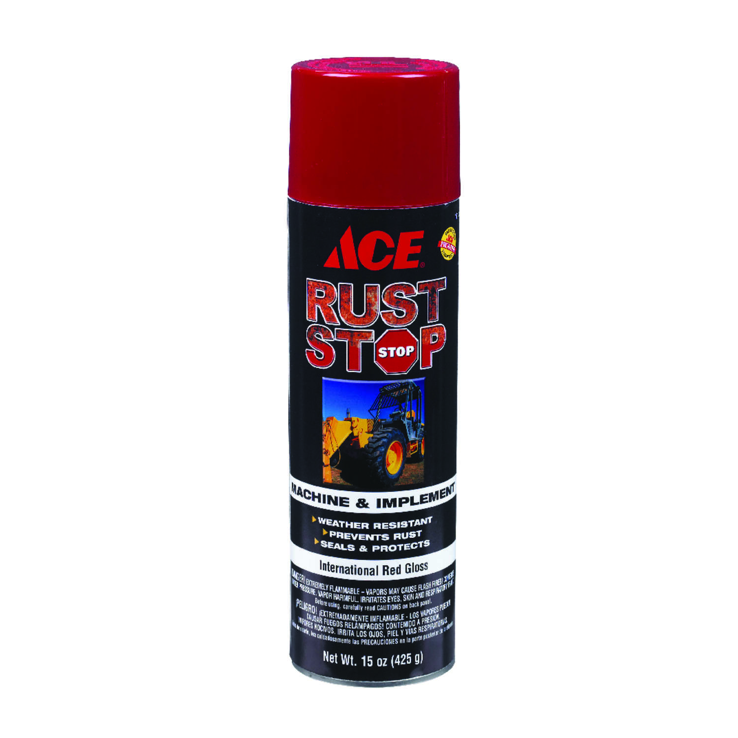 Ace  Rust Stop  Gloss  International Red  15 oz. Machine And Implement Enamel Spray Paint