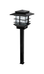 Paradise  Black  Low Voltage  LED  Pathway Light  1  0.3 watts