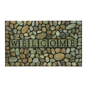Sports Licensing Solutions  Pebble Welcome  Multicolored  Rubber  Nonslip Floor Mat  30  L x 18  W