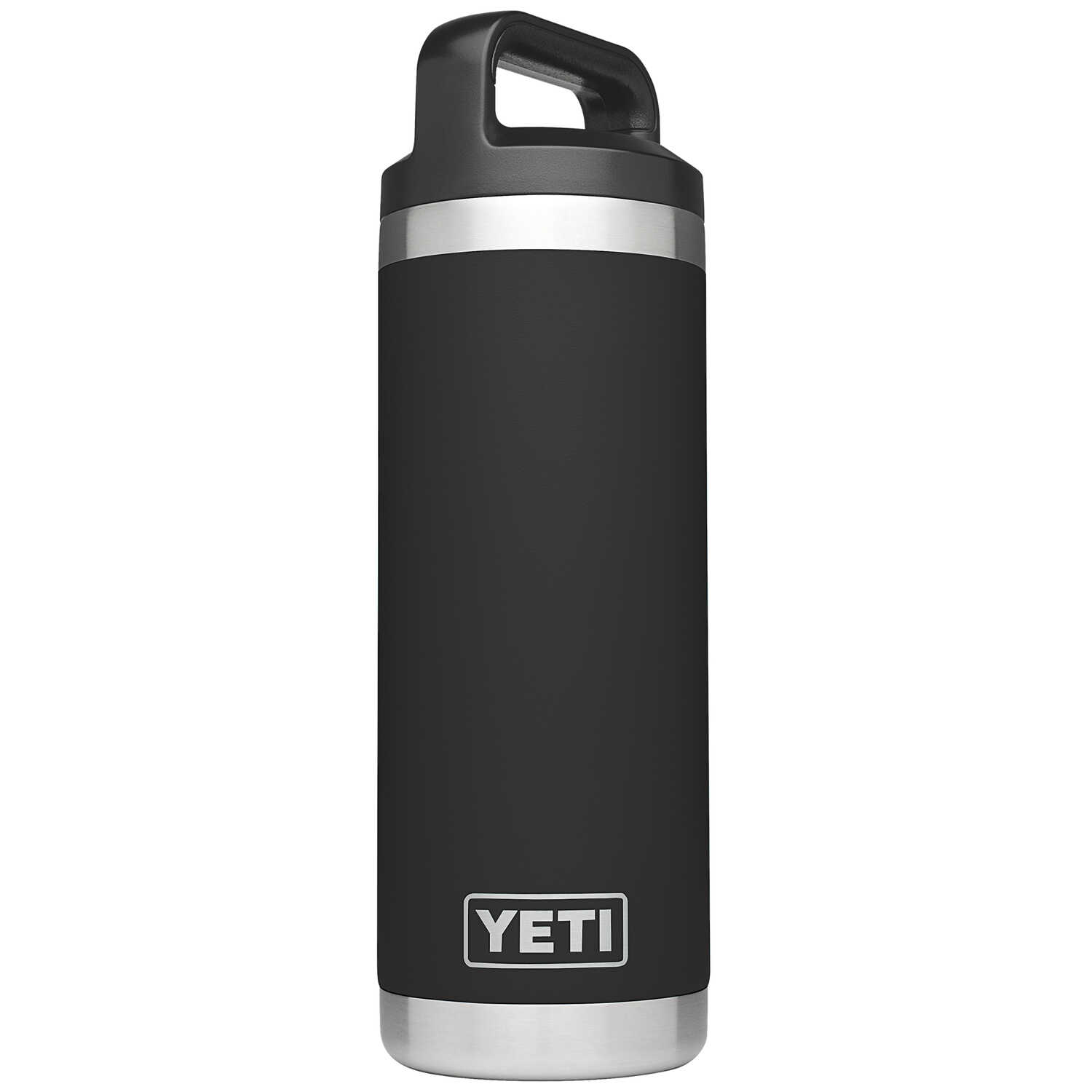 YETI  Rambler  Black  Stainless Steel  Insulated Bottle  BPA Free 18 oz.