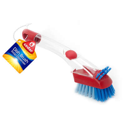 O-Cedar  3.6 in. W Plastic  Soap Dispenser Dish Brush