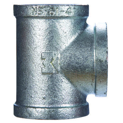 BK Products  1-1/2 in. FPT   x 1-1/2 in. Dia. FPT  Galvanized  Malleable Iron  Tee