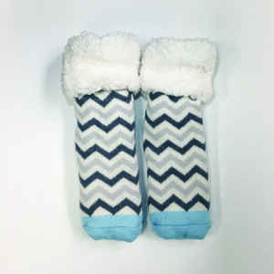 Pudus  Chevron  Slipper Socks  Acrylic/Polyester  1 pair