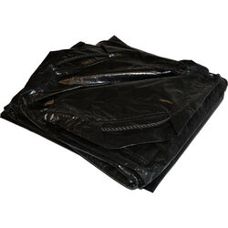 Dry Top 9 ft. W x 9 ft. L Heavy Duty Polyethylene Tarp Black