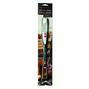 Charcoal Companion  Stainless Steel  Grill Fork Thermometer  14.96 in. H x 1.69 in. W x 1.22 in. L