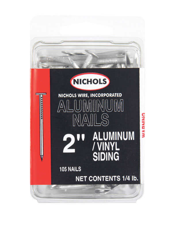 Nichols Wire  2 in. L Siding  Aluminum  Nail  Flat Head Smooth Shank  105  1/4 lb.