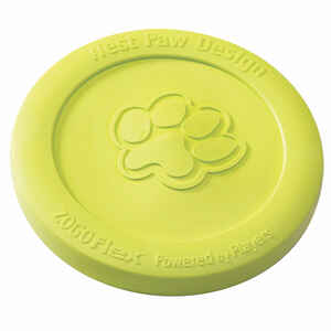 West Paw  Zogoflex  Green  Zisc Disc  Synthetic Rubber  Frisbee  Medium