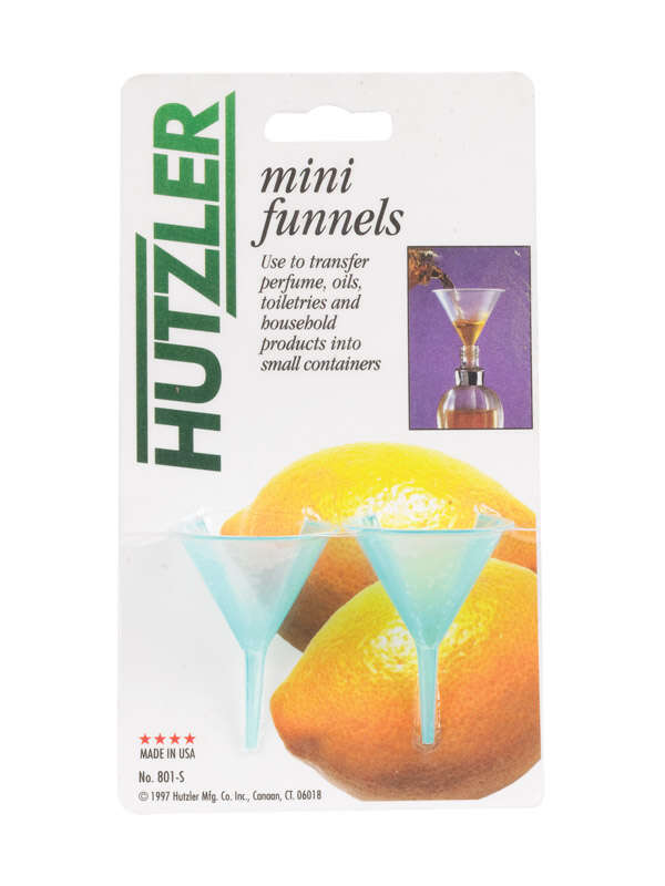 HIC  Clear  Plastic  1.6 oz. Mini Funnels