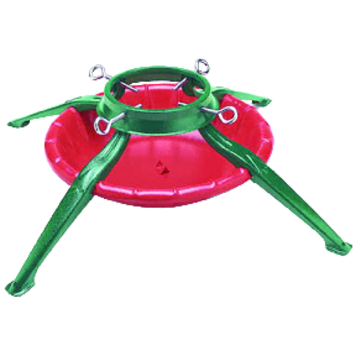 Jack-Post  Steel  Green/Red  Christmas Tree Stand  10 ft. Maximum Tree Height
