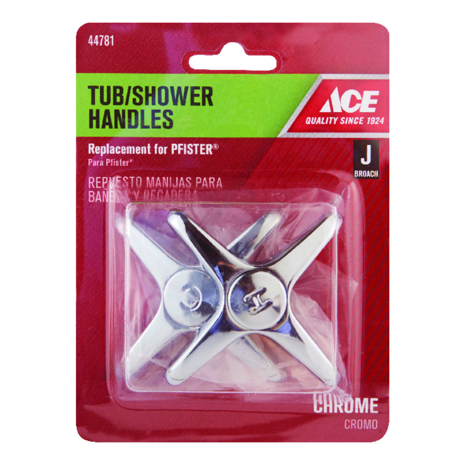 Ace  Cross  Chrome  Tub and Shower Handle