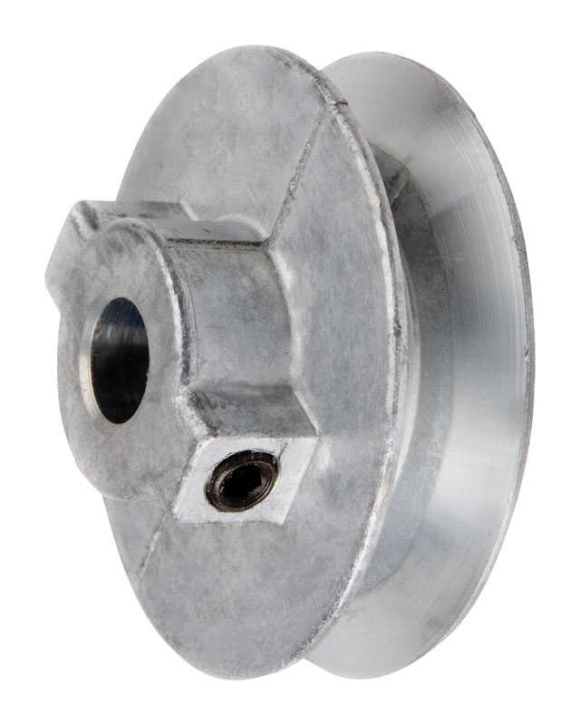 Chicago Die Cast  3 in. Dia. Zinc  Single V Grooved Pulley