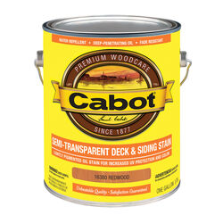 Cabot  Semi-Transparent  16380 Redwood  Oil-Based  Penetrating Oil  Deck and Siding Stain  1 gal.