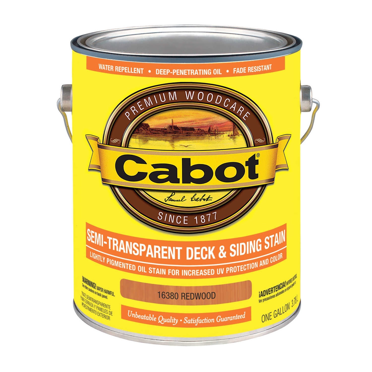 Cabot  Semi-Transparent Deck & Siding Stain  Semi-Transparent  Redwood  Oil-Based  Natural Oil/Water