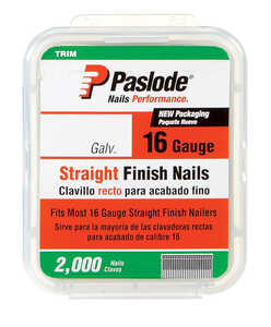 Paslode  16 Ga. Smooth Shank  Straight Coil  Finish Nails  2 in. L x 0.12 in. Dia. 2,000 pk