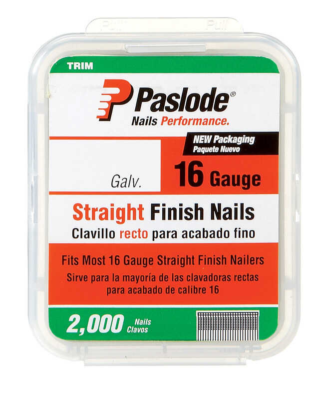 Paslode  16 Ga. Smooth Shank  Straight Strip  Finish Nails  2 in. L x 0.12 in. Dia. 2000 pk