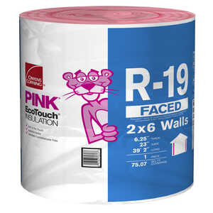 Owens Corning  23 in. W x 470  L 19  Kraft  Insulation  Roll  75.07 sq. ft.