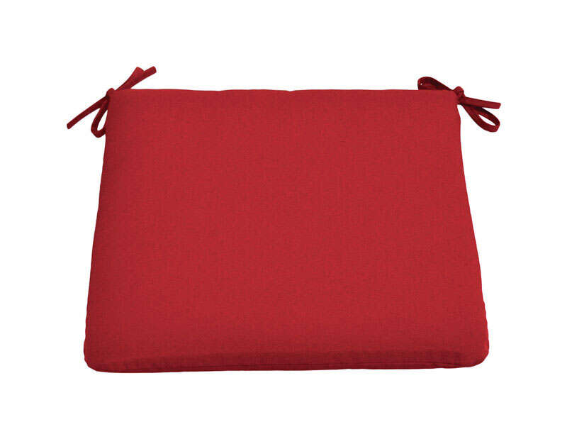 Casual Cushion  Red  Seating Cushion  19 in. 2 in. 18 in. Polyester