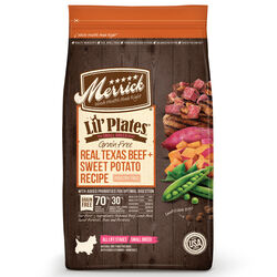 Merrick  Lil Plates  Beef and Sweet Potato  Dry  Dog  Food  Grain Free 4 lb.